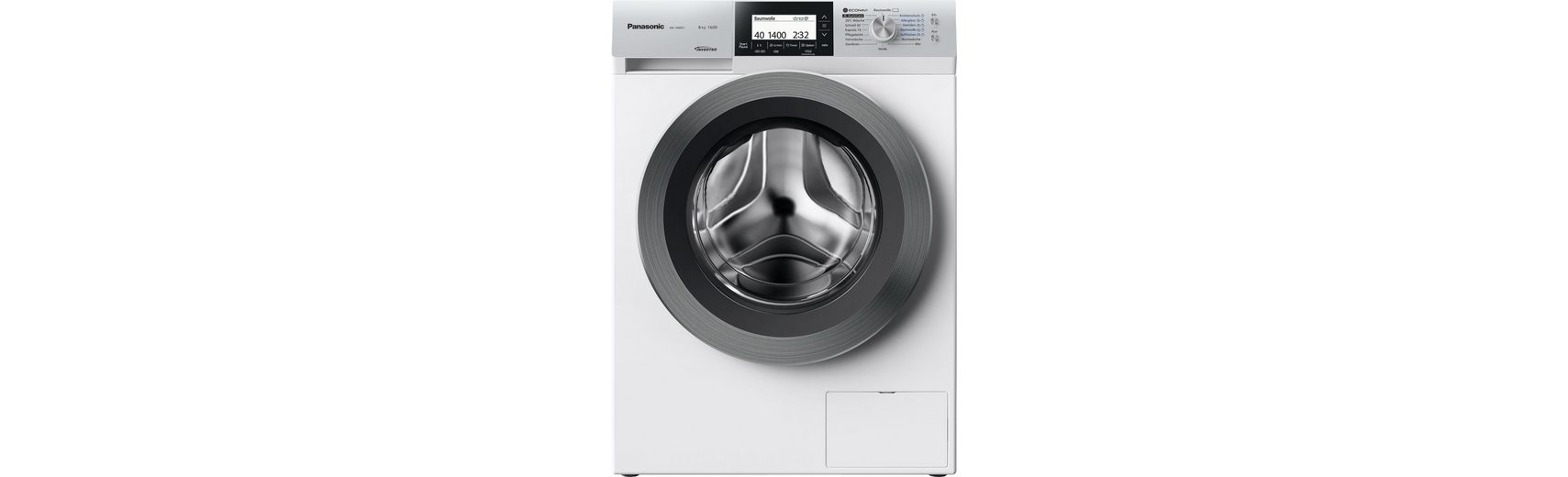 Panasonic Waschmaschine NA-168ZS1WDE, A+++, 8 kg, 1600 U/Min