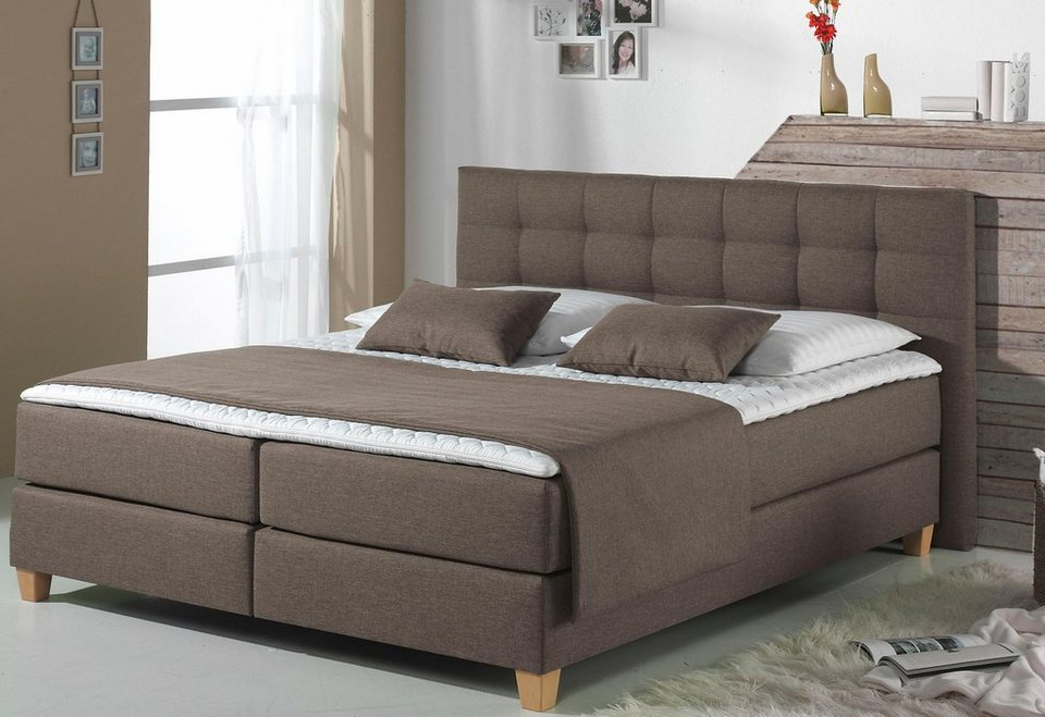 Home affaire boxspringbett tommy inkl kaltschaumtopper for 2 mal 2 meter bett