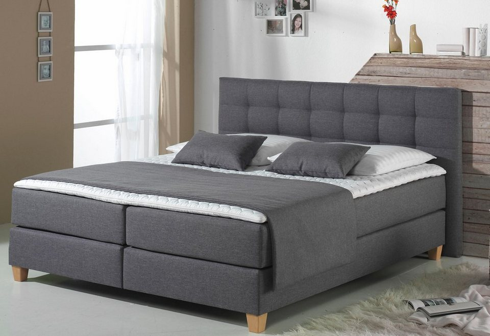 home affaire boxspringbett tommy inkl kaltschaumtopper. Black Bedroom Furniture Sets. Home Design Ideas