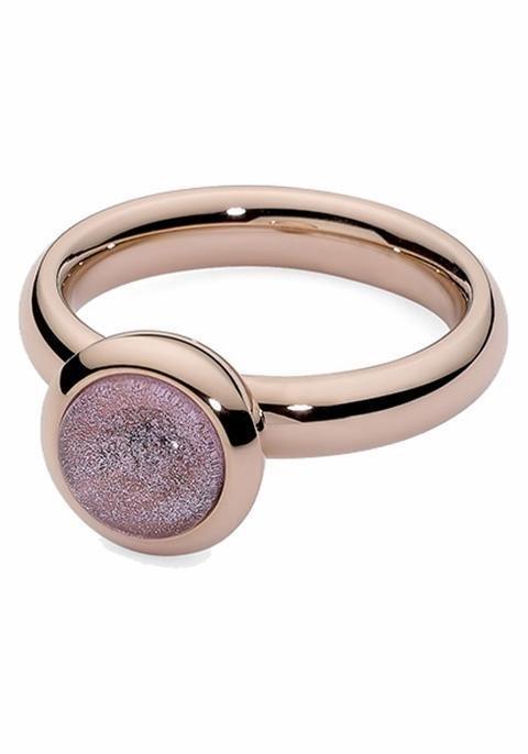 qudo Fingerring »Caneva, 652842, 652844, 652845, 652847« mit Glasstein in roségoldfarben-pink