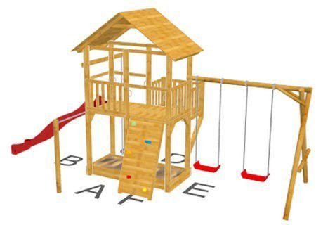 Dein Spielplatz Spielturm mit Rutsche, rot, »Pirate & Princess 11«