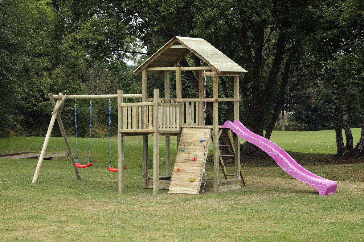 Dein Spielplatz Spielturm mit Rutsche, pink, »Pirate & Princess 12«