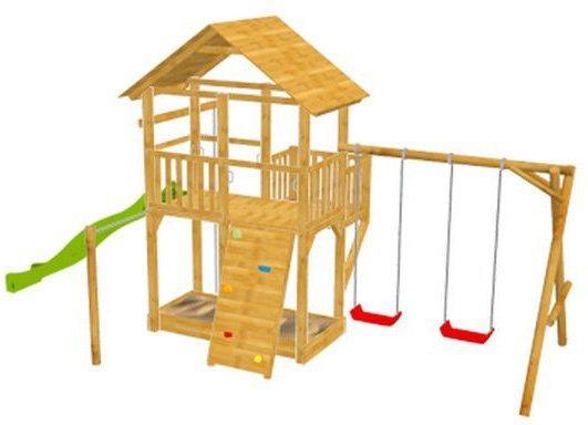 Dein Spielplatz Spielturm mit Rutsche, hellgrün, »Pirate & Princess 11« in hellgrün