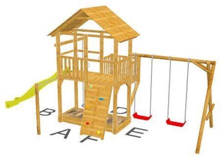 Dein Spielplatz Spielturm mit Rutsche, gelb, »Pirate & Princess 11« in gelb