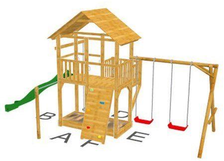 Dein Spielplatz Spielturm mit Rutsche, grün, »Pirate & Princess 11«