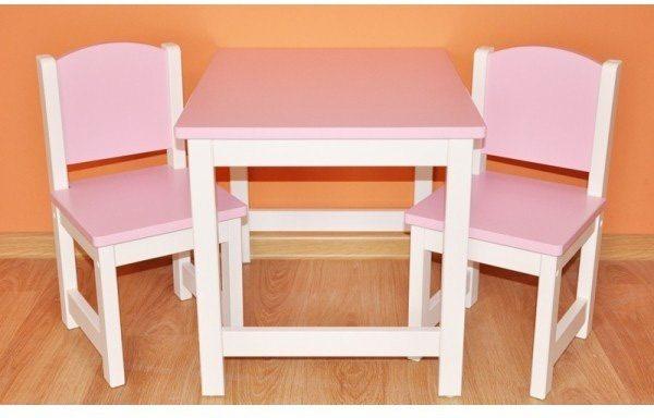 Dein Spielplatz Kindersitzgruppe, rosa weiß, »Danny« in rosa-weiß