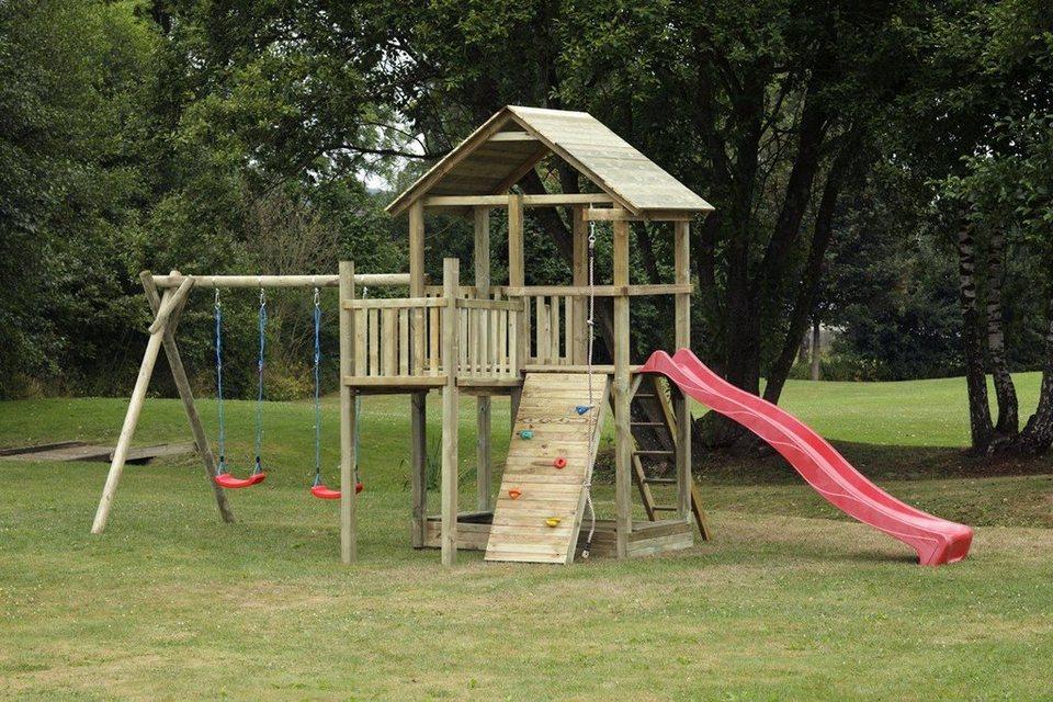 Dein Spielplatz Spielturm mit Rutsche, rot, »Pirate & Princess 12« in rot