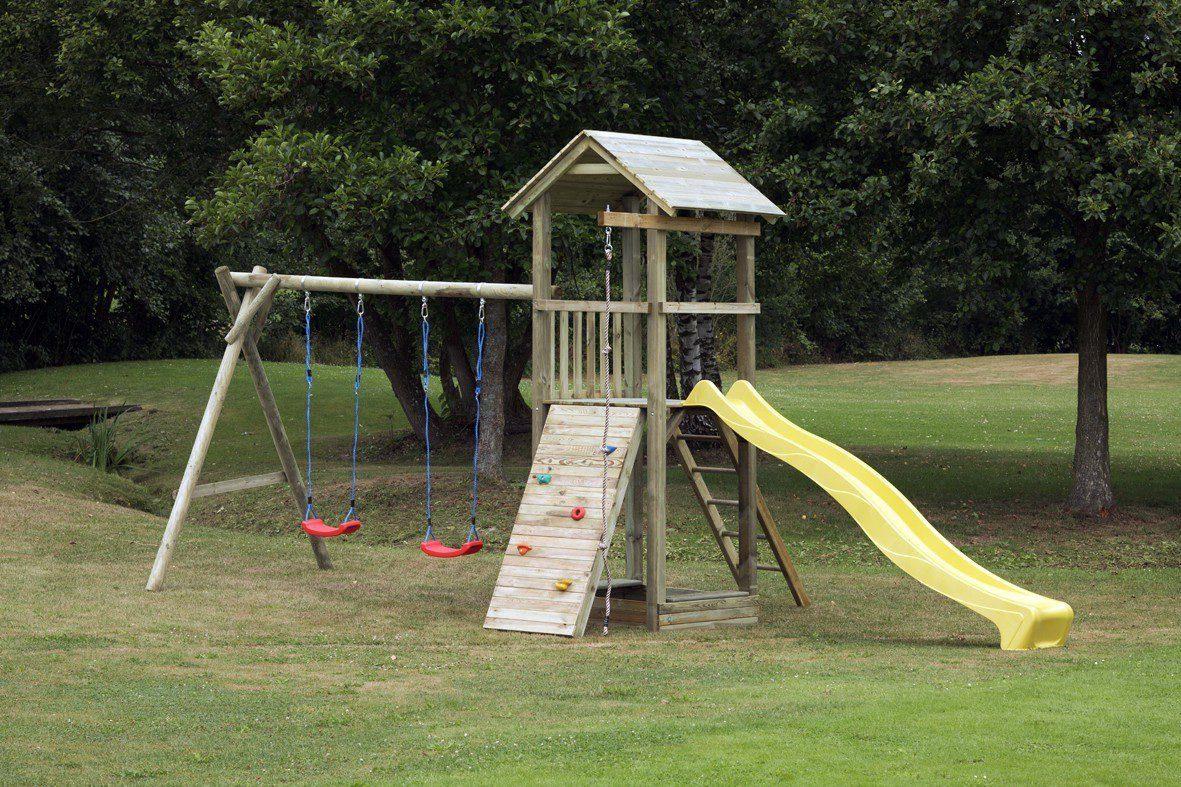 Dein Spielplatz Spielturm mit Rutsche, gelb, »Pirate & Princess 6«