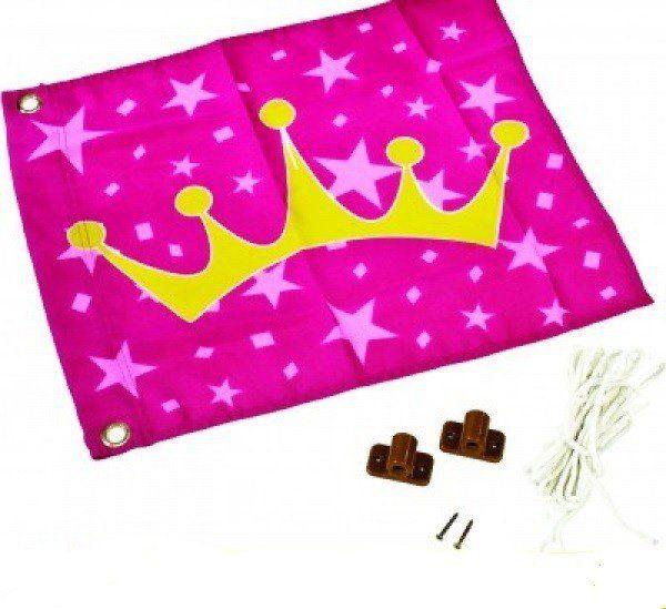Dein Spielplatz Fahne mit Hisssystem zur Montage am Spielturm, »Prinzessin«