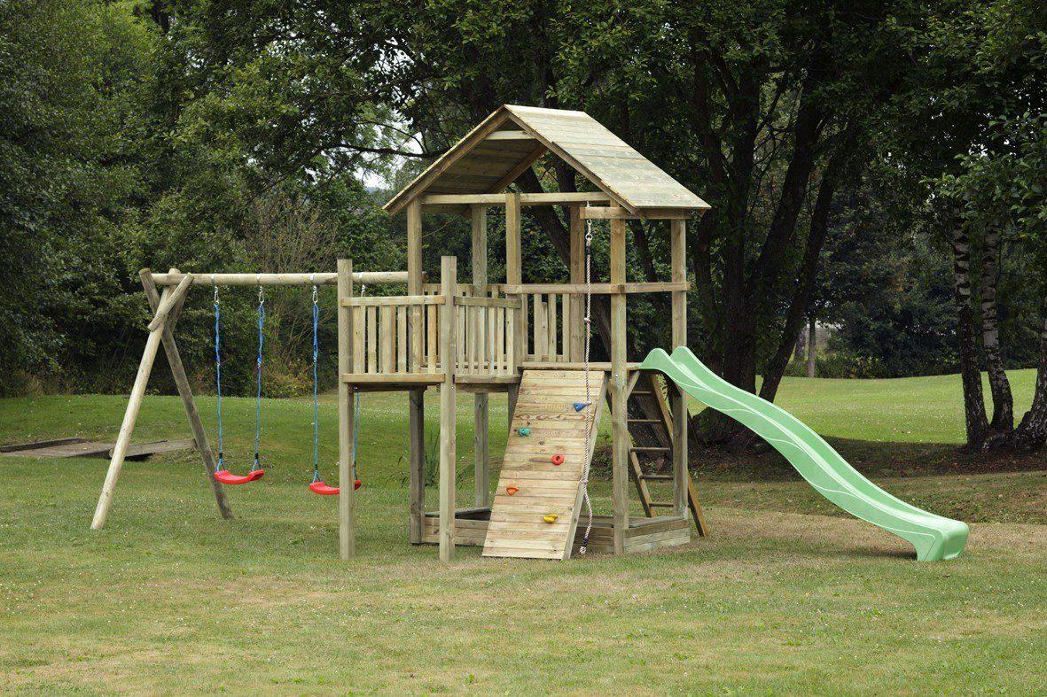 Dein Spielplatz Spielturm mit Rutsche, hellgrün, »Pirate & Princess 12«
