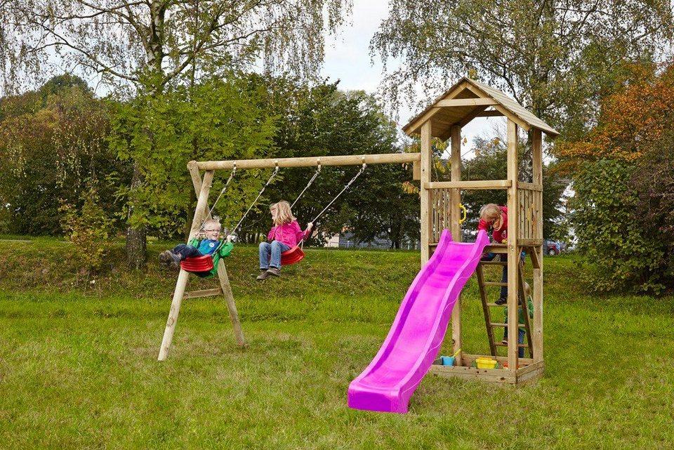 Dein Spielplatz Spielturm mit Rutsche, pink, »Pirate & Princess 3« in pink