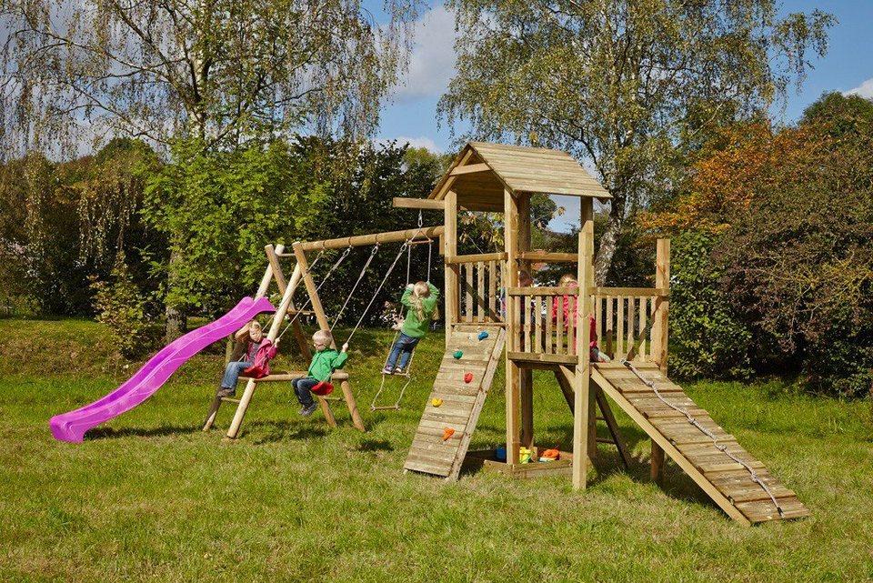Dein Spielplatz Spielturm mit Rutsche, pink, »Pirate & Princess 2« in pink