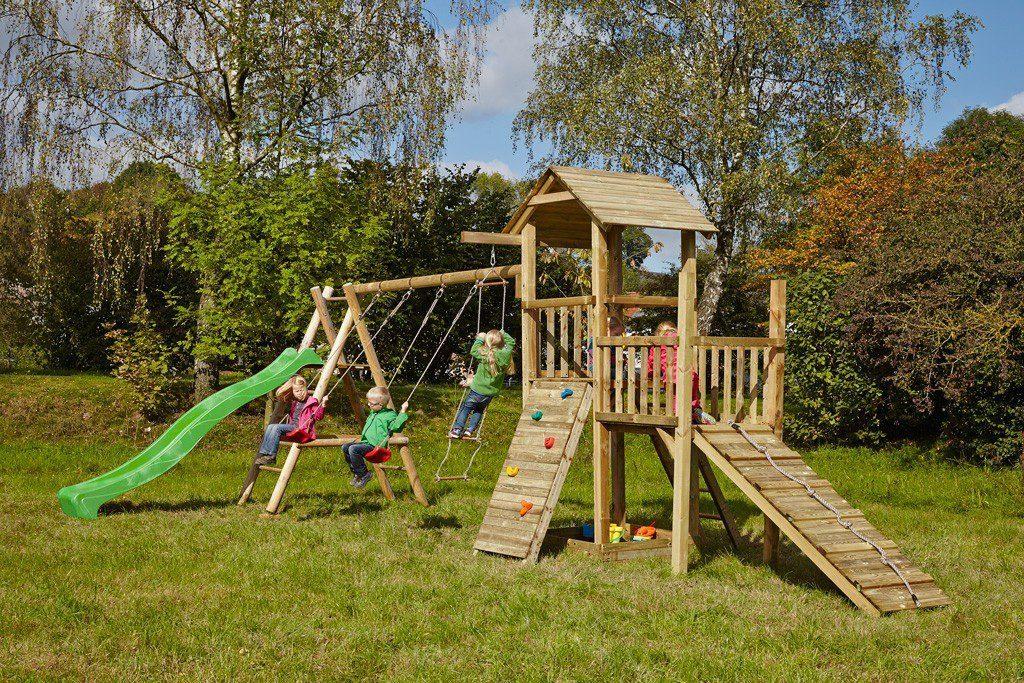 Dein Spielplatz Spielturm mit Rutsche, hellgrün, »Pirate & Princess 2«