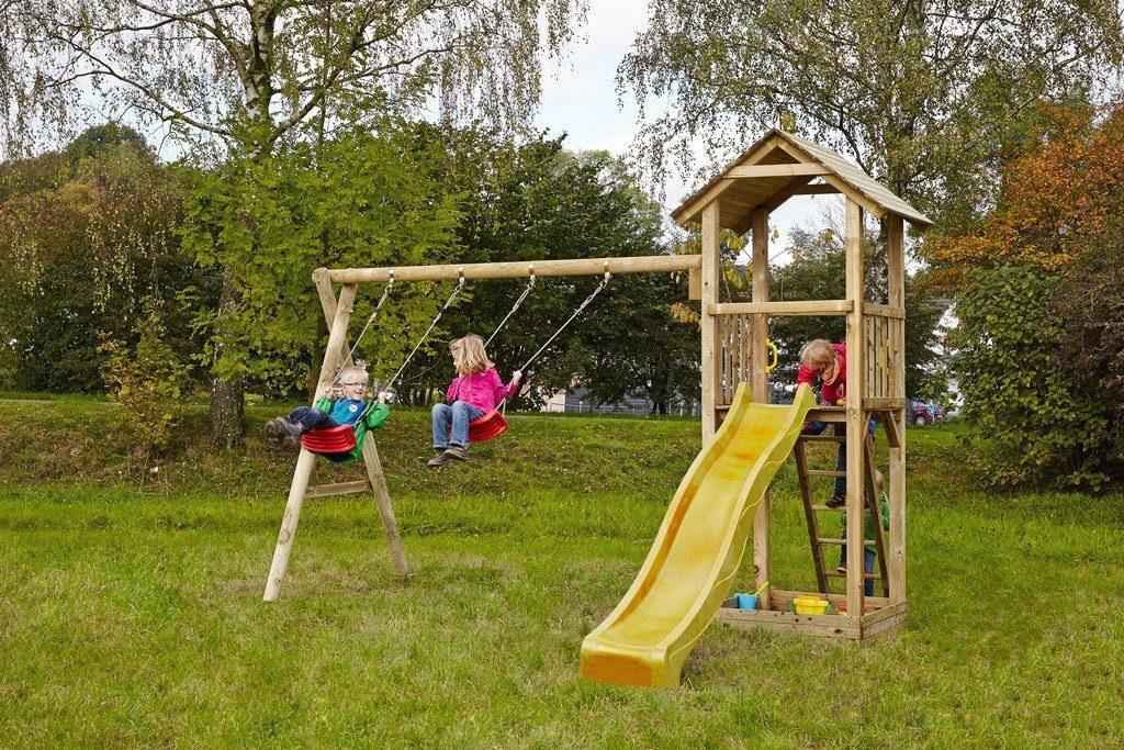Dein Spielplatz Spielturm mit Rutsche, gelb, »Pirate & Princess 3«