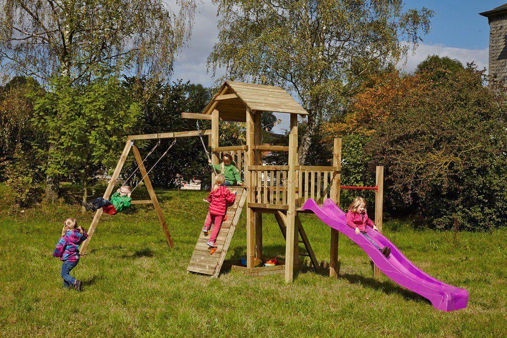 Dein Spielplatz Spielturm mit Rutsche, pink, »Pirate & Princess 1«