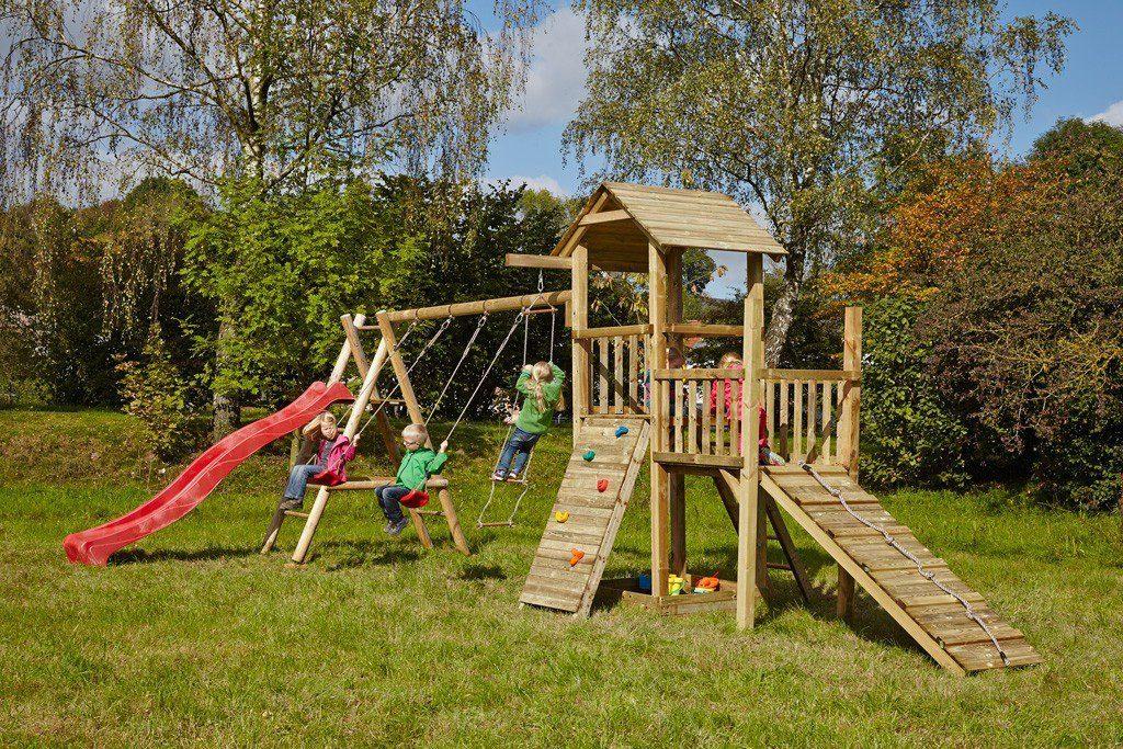 Dein Spielplatz Spielturm mit Rutsche, rot, »Pirate & Princess 2«