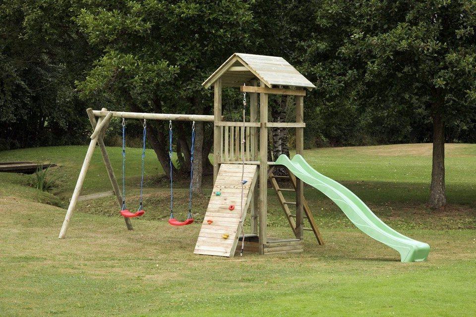 Dein Spielplatz Spielturm mit Rutsche, hellgrün, »Pirate & Princess 6« in hellgrün