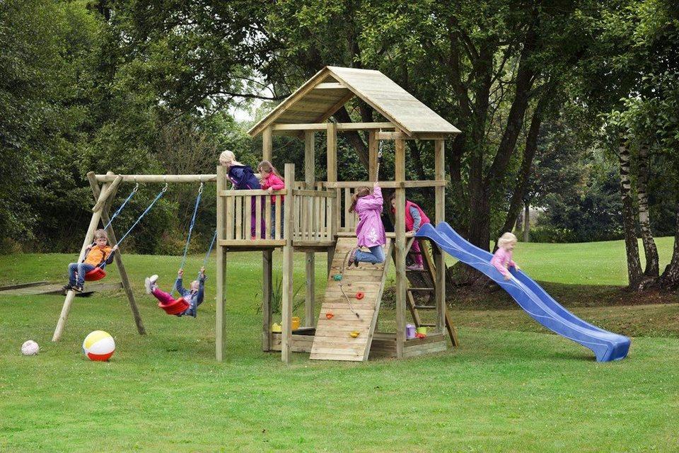Dein Spielplatz Spielturm mit Rutsche, blau, »Pirate & Princess 12« in blau