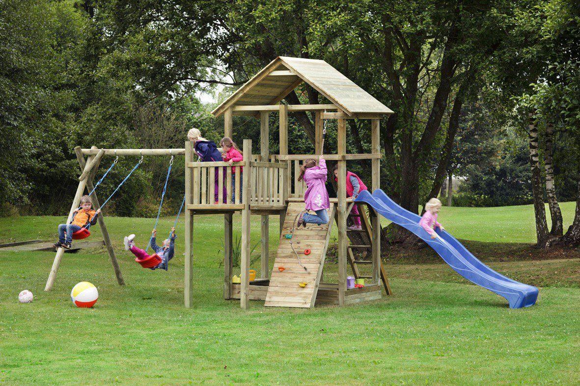 Dein Spielplatz Spielturm mit Rutsche, blau, »Pirate & Princess 12«