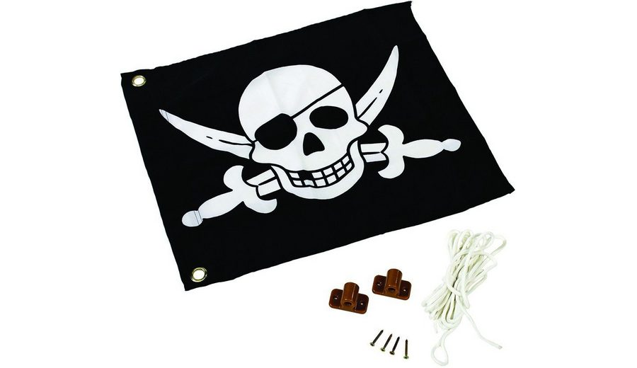 Dein Spielplatz Fahne mit Hisssystem zur Montage am Spielturm, »Pirat«