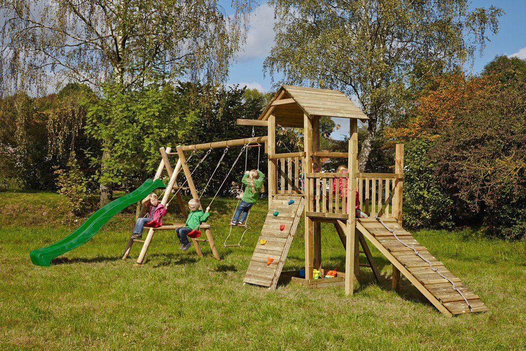Dein Spielplatz Spielturm mit Rutsche, grün, »Pirate & Princess 2«