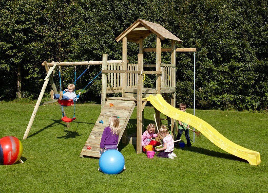 Dein Spielplatz Spielturm und Rutsche, gelb, »Pirate & Princess 5«