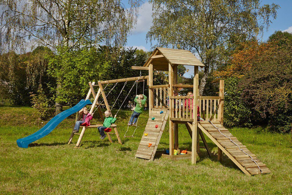 Dein Spielplatz Spielturm mit Rutsche, blau, »Pirate & Princess 2«