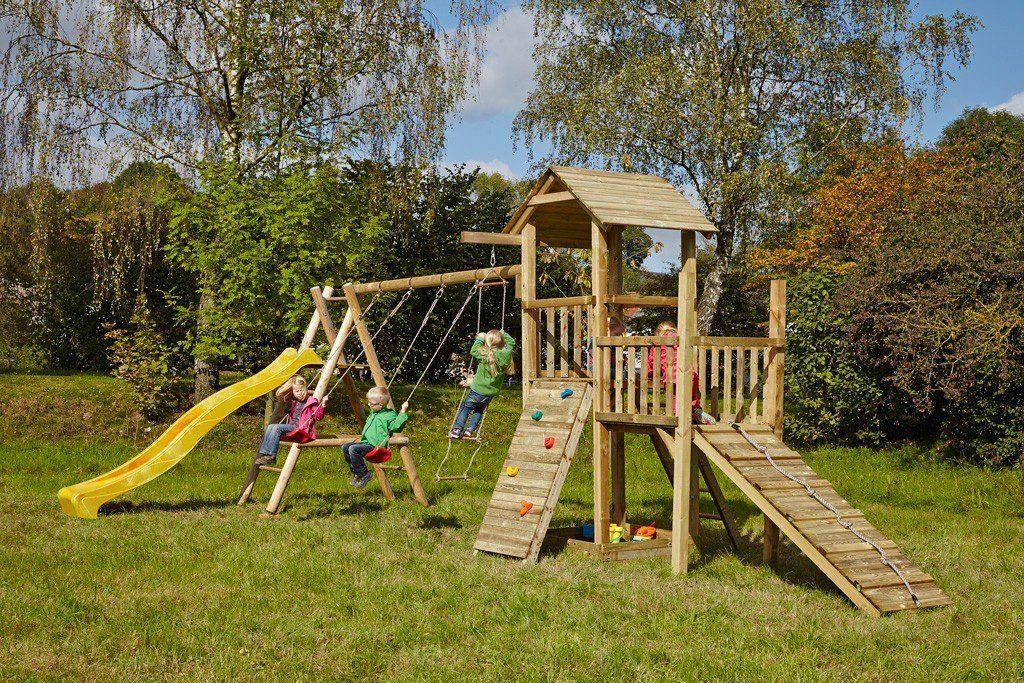 Dein Spielplatz Spielturm mit Rutsche, gelb, »Pirate & Princess 2«