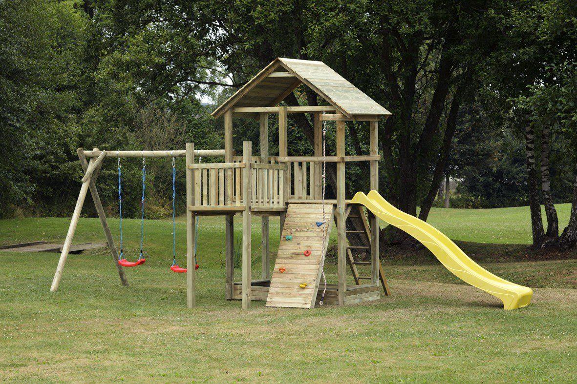 Dein Spielplatz Spielturm mit Rutsche, gelb, »Pirate & Princess 12«
