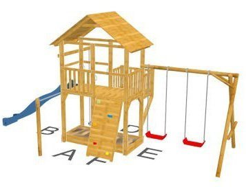 Dein Spielplatz Spielturm mit Rutsche, blau, »Pirate & Princess 11« in blau