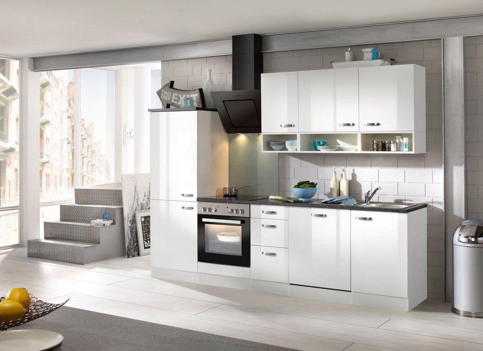 Küchenzeile mit E-Geräten »Lagos, Breite 270 cm« in weiß