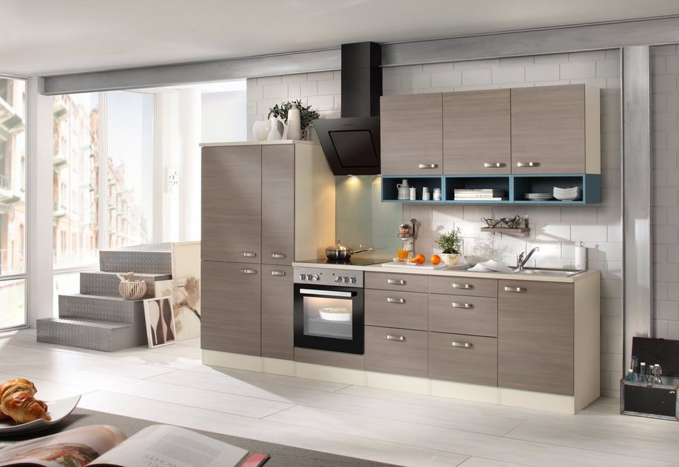 Küchenzeile mit E-Geräten »Vigo 300 cm« in braun