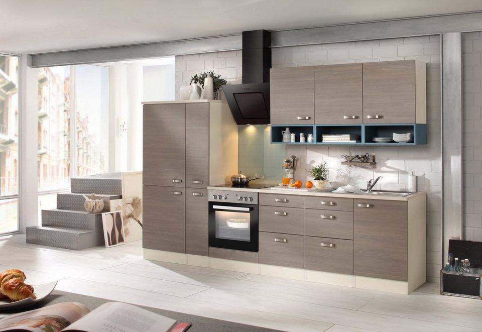 Optifit Küchenzeile mit E-Geräten »Vigo 300 cm« in braun