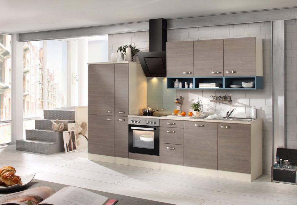 Optifit Küchenzeile mit E-Geräten »Vigo, Breite 300 cm« in braun