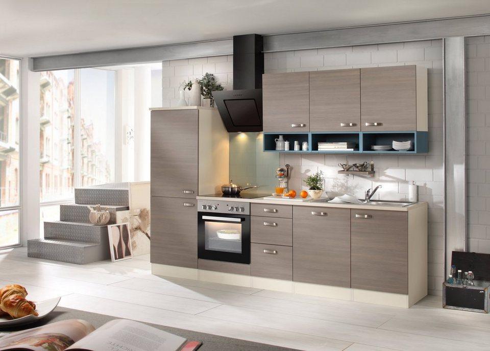 Optifit Küchenzeile mit E-Geräten »Vigo, Breite 270 cm« in braun