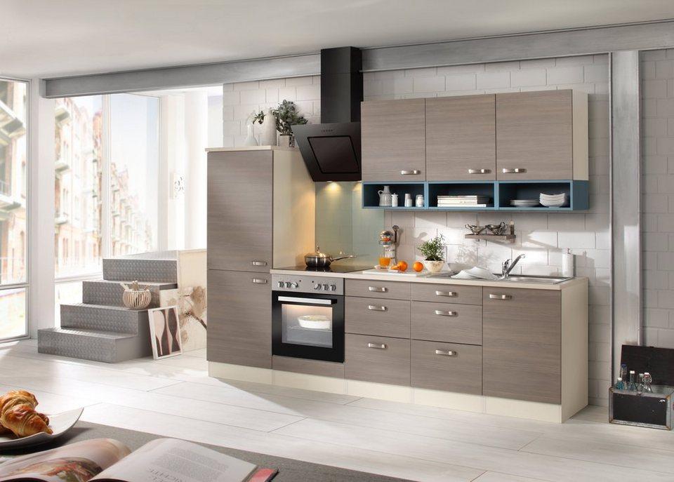 Küchenzeile mit E-Geräten »Vigo 270 cm« in braun