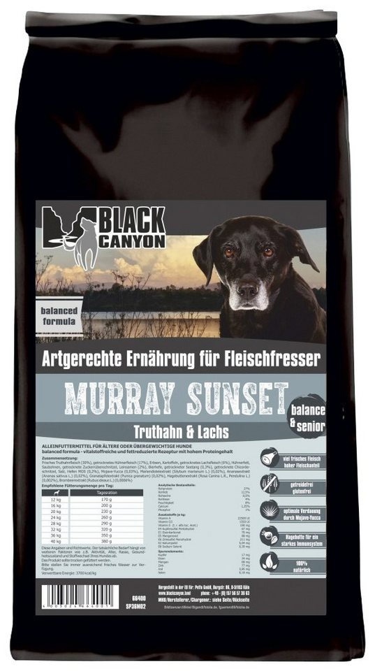 Hundetrockenfutter »Murray Sunset Truthahn & Lachs«, 1,5 kg in braun