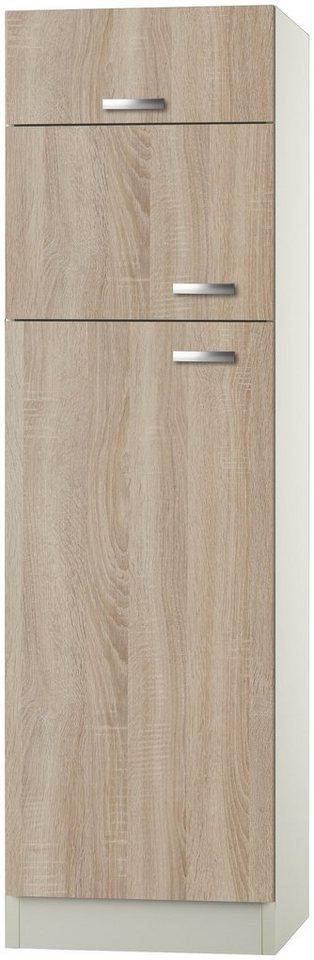 Kühlumbauschrank »Padua, Höhe 206,8 cm« in eichefarben