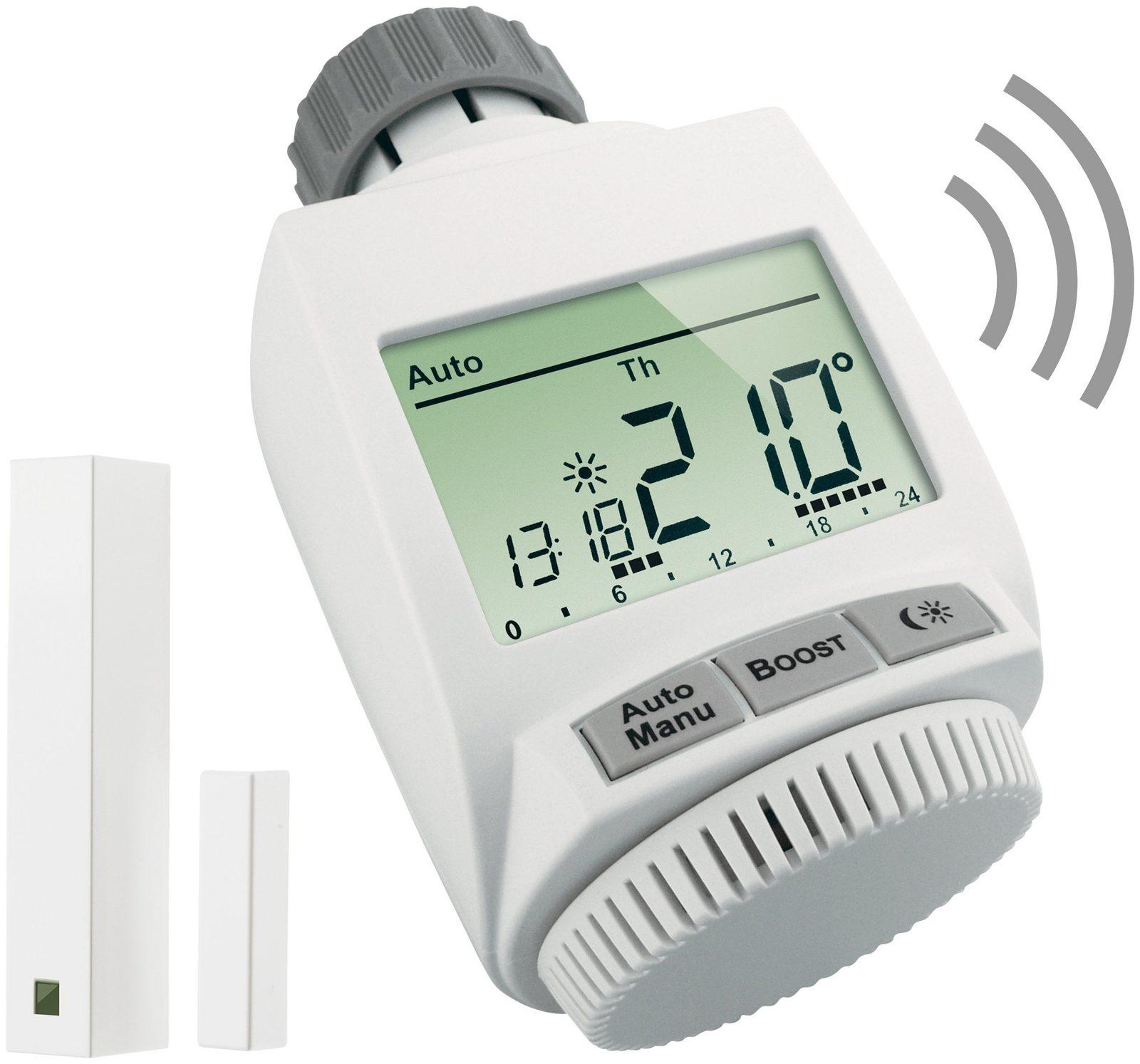 MAX! Smart Home Set »Heizkörperlösung basic«, 2-tlg., Heizkörperthermostat / Fensterkontakt