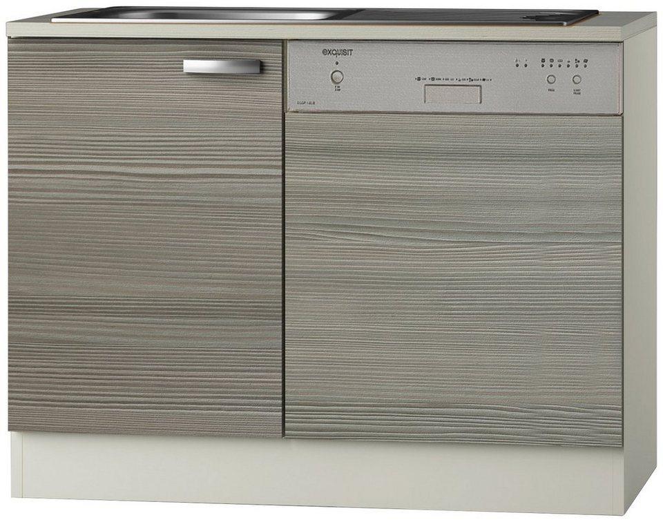 Spülenschrank »Vigo« Breite 110 cm in piniefarben nougat
