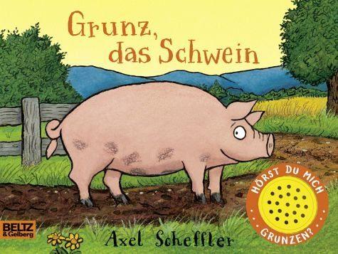 Buch mit Papp-Einband »Grunz, das Schwein«