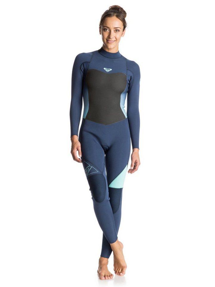 Roxy Back Zip Wetsuit »Syncro 3/2mm« in Blue print