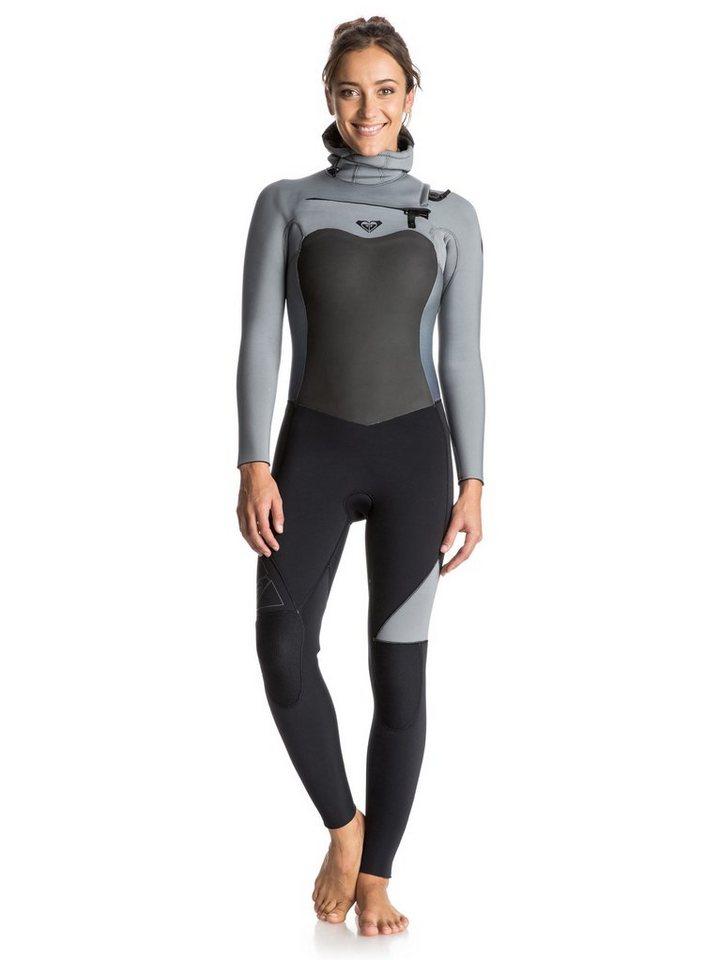 Roxy Chest Zip Wetsuit mit Haube »Syncro 5/4/3mm« in Anthracite