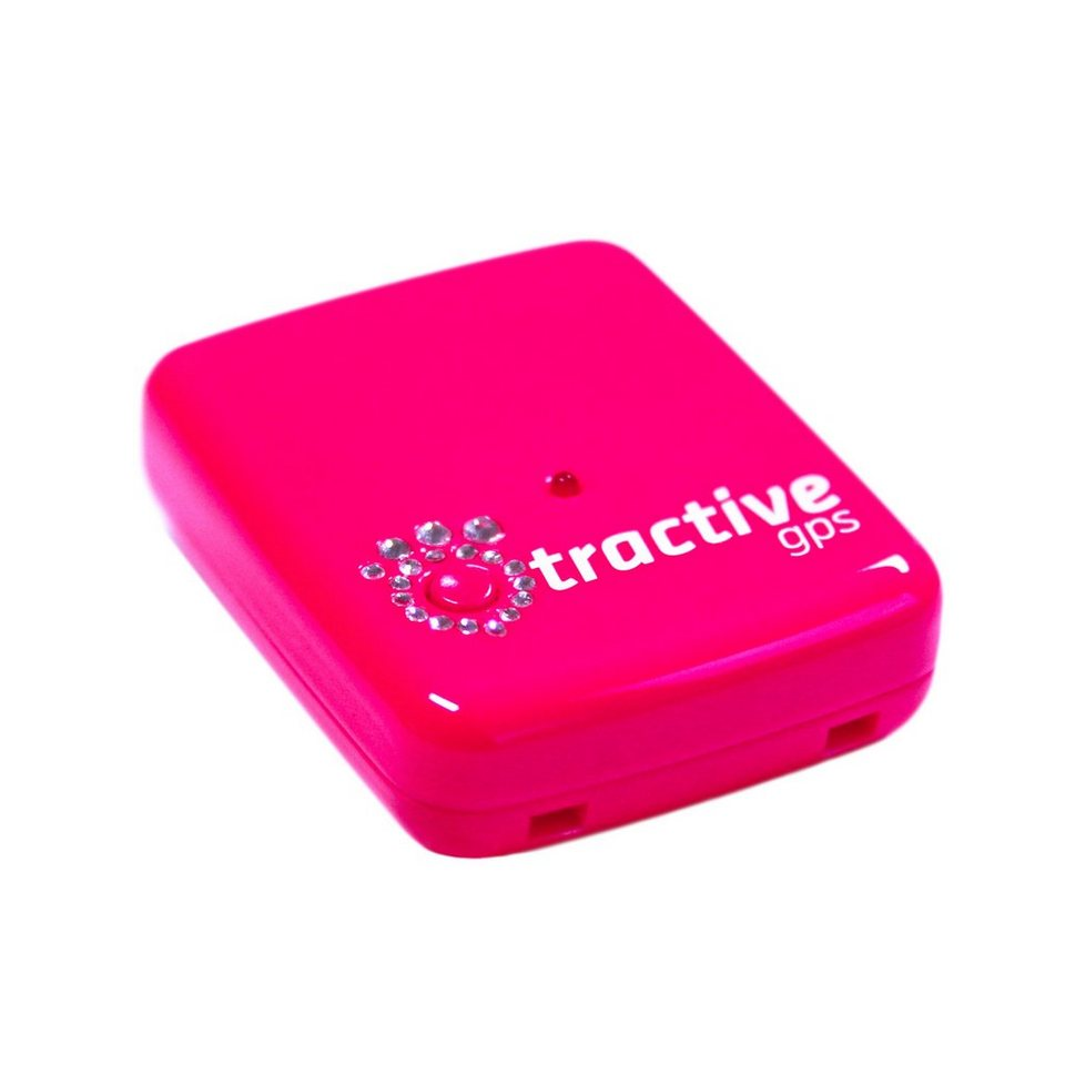 Tractive GPS Tracker für Haustiere »Crystal Pink Edition« in pink
