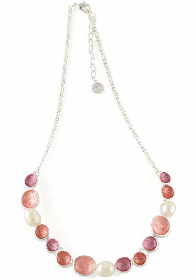 Lizas Collier »24447« in silberfarben-weiß-koralle-rosa