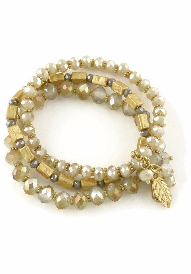 Lizas Armband »19438« mit Glassteinen in goldfarben-nude-grau