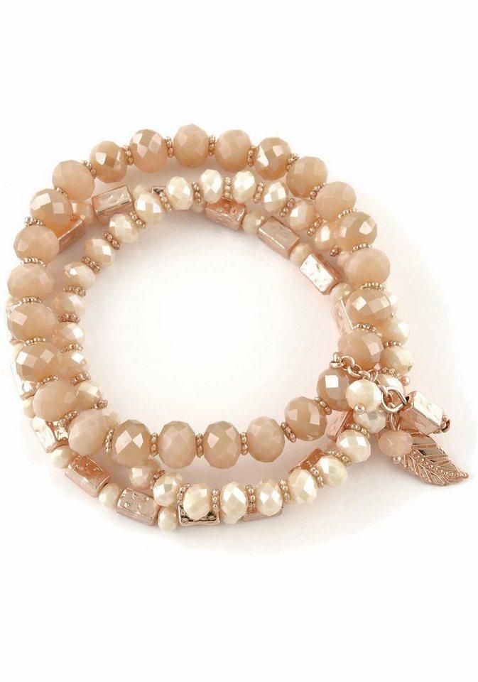 Lizas Armband »19437« mit Glassteinen in roségoldfarben-nude-rosa