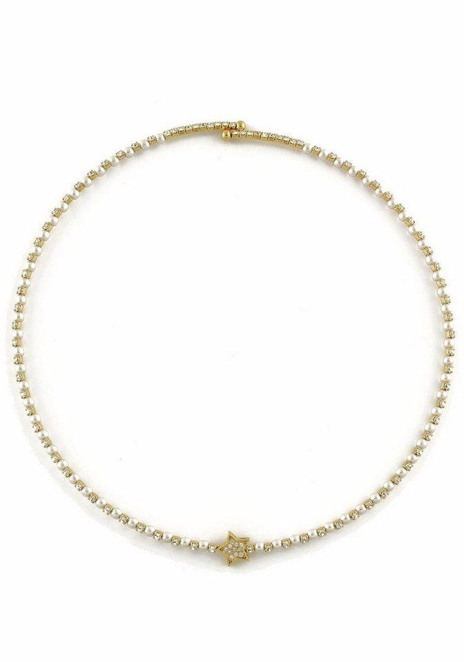 Lizas Collier »Stern, 24472« mit Glasstein in goldfarben