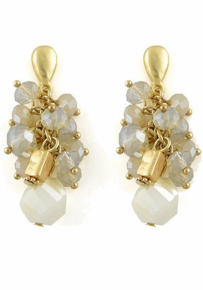 Lizas Paar Ohrstecker »34212« mit Glassteinen in goldfarben-nude