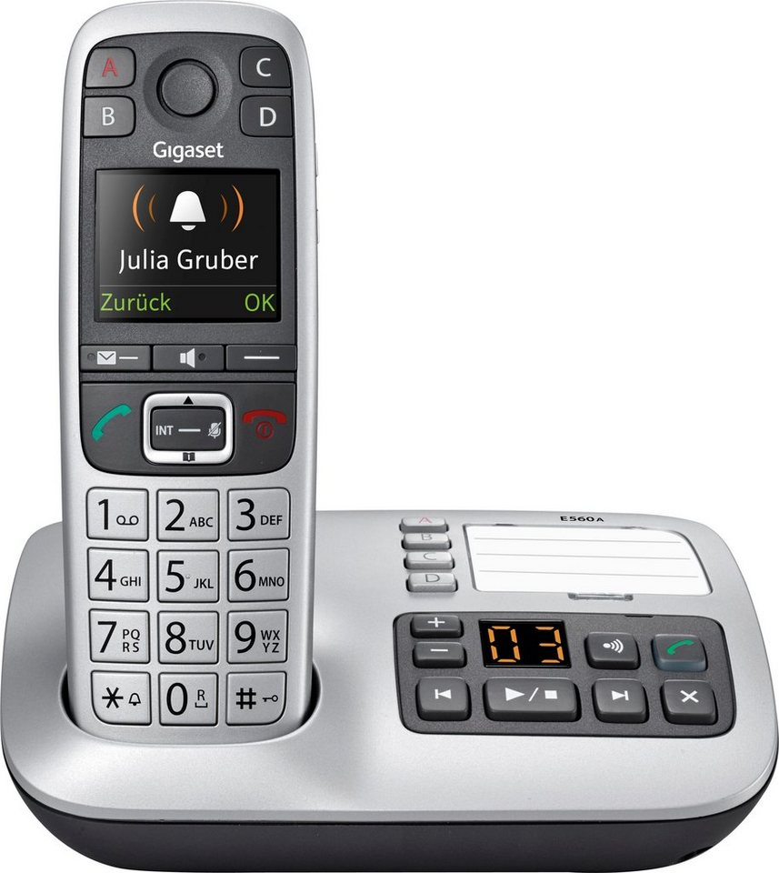 gigaset e560 a schnurloses dect telefon mit ab otto. Black Bedroom Furniture Sets. Home Design Ideas